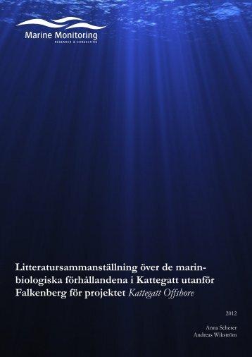 Litteratursammanställning marinbiologiska förhållanden - Favonius AB