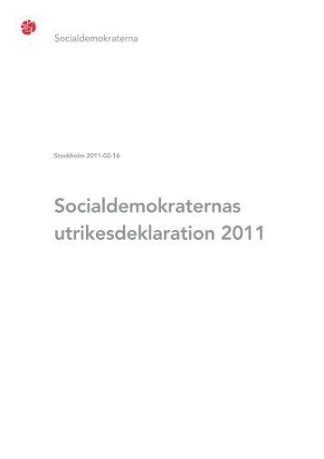 Socialdemokraternas utrikesdeklaration 2011