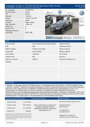 Volkswagen Touran 2.0 TDI DPF MATCH Navi Xenon DSG 19-LM L 32.491 ...