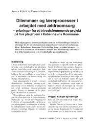 Dilemmaer og læreprocesser i arbejdet med ... - Nyt om Arbejdsliv