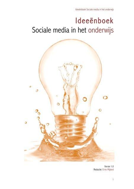 ideeënboek sociale media in het onderwijs - schoolbordportaal