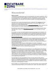 Nieuwsbrief Verantwoorde Kraamzorg - maart 2009 - Zichtbare Zorg