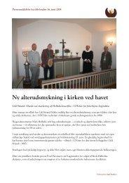 Ny alterudsmykning i kirken ved havet - Han Herred Havbåde