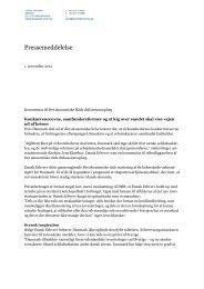 Pressemeddelelse - De Økonomiske Råd