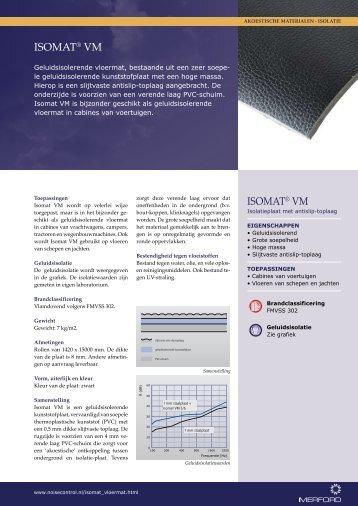 Productblad Isomat VM - Merford Noise Control