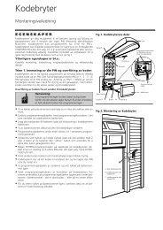 Trådløst kodetastatur Command 211