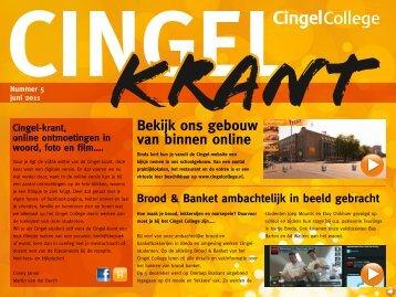 Cingelkrant 5 - juni 2011 - Cingel College
