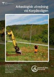 Arkeologisk utredning korpås.pdf - Munkedals kommun