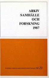 ARKIV SAMHÄLLE FORSKNING - Visa filer
