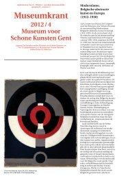 Museumkrant 2012_04 - Museum voor Schone Kunsten Gent