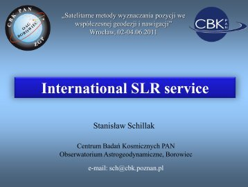 slr stations