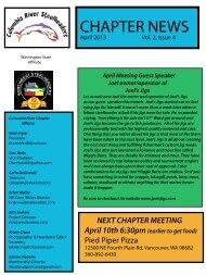 April Newsletter 2013 - Columbia River Steelheaders