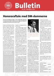 Honoraraftale med DM-dommerne - DBU