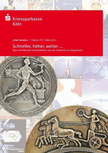 Kreissparkasse Köln Schneller, höher, weiter - Geldgeschichtliches ...