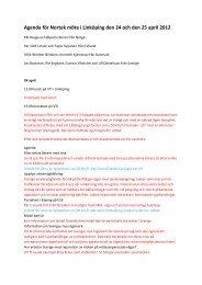 Minnesateckningar 24 och den 25 april 2012 med agenda ... - NMF