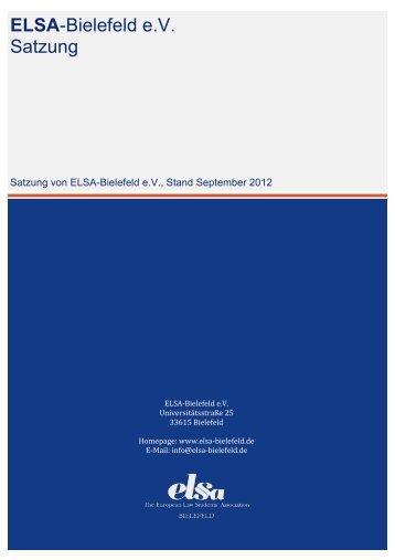 ELSA-Bielefeld e.V. Satzung