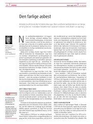 Kurt Jacobsen, kronik. Den farlige asbest - Ugeskrift for Læger