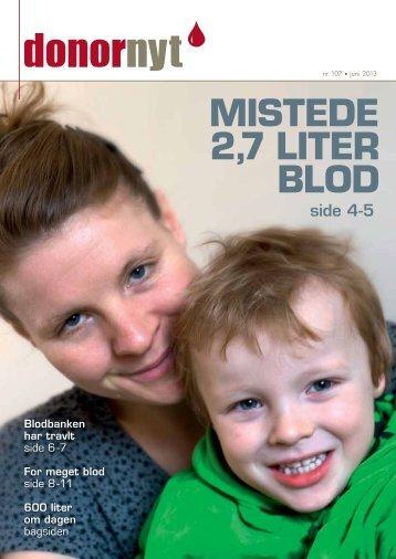 Donor Nyt 107 - Bloddonorerne i Danmark