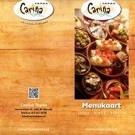 Menukaart - Cariña Tapas Restaurant