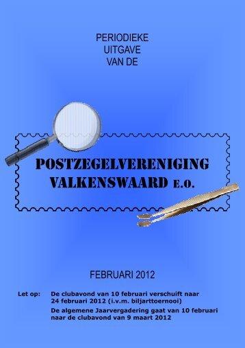 februari 2012 - Postzegelvereniging Valkenswaard eo
