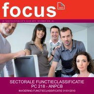 SECTORALE FUNCTIECLASSIFICATIE PC 218 - ANPCB - BBTK