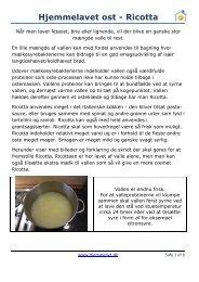 Hjemmelavet ost - Ricotta - Hjemmeriet