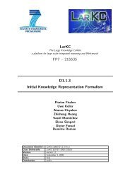 Initial Knowledge Representation Formalism - LarKC