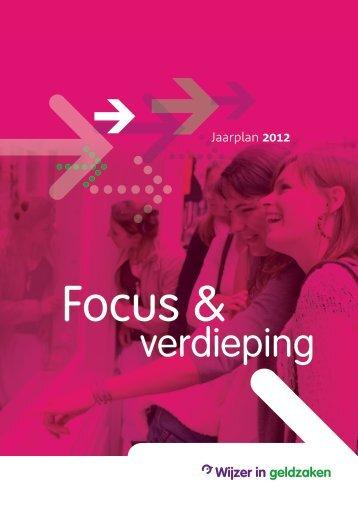 Wijzer in geldzaken Jaarplan 2012