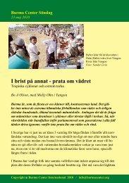 Svensk PDF (249 KB) - Burma Center