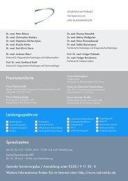 Praxisflyer - Gemeinschaftspraxis für Radiologie und Nuklearmedizin