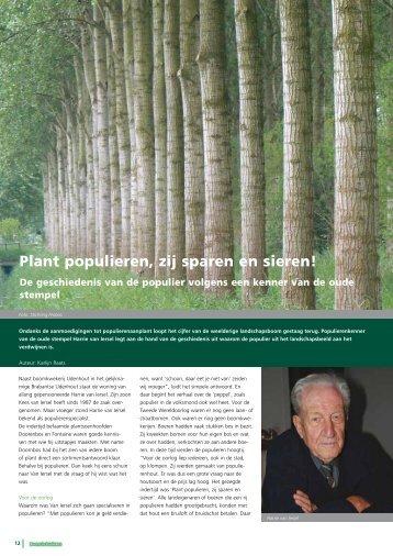 Plant populieren, zij sparen en sieren! - Stichting Probos