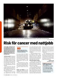 Risk för cancer med nattjobb - Dagens Arbete