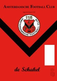 10 november 2010 89ste jaargang nummer 4 - AFC, Amsterdam