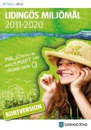 LIDINGÖS MILJÖMÅL 2011-2020 - Lidingö stad