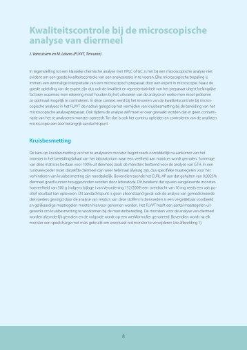 Kwaliteitscontrole bij de microscopische analyse van diermeel - Favv