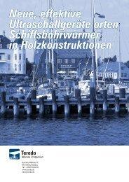 Neue, effektive Ultraschallgeräte orten Schiffsbohrwürmer in ...