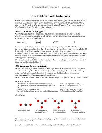 Om koldioxid och karbonater