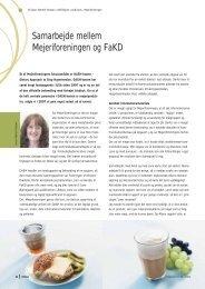Samarbejde mellem Mejeriforeningen og FaKD