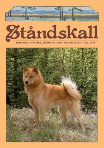 TidsskrifT för fågelJägare Och speTshundVänner • nr 3 2006