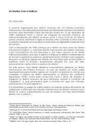 Os Direitos Civis e Políticos - DHnet