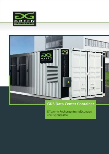GDS Data Center Container - Green Data Systems