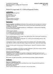 Referat af brugermøde på Bagsværd Stadion 18.11.2004 - Gladsaxe ...