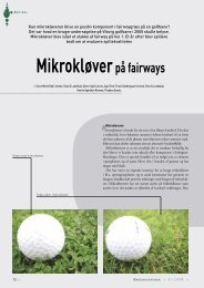 Mikrokløverpå fairways - Turfgrass