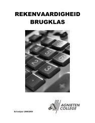Rekenvaardigheid Brugklas - Carolus Clusius College