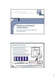 Modellierung und Simulation analoger Systeme - Grundlagen der ...