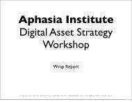 Wrap Report - Aphasia Institute