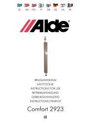 Comfort 2923 - Alde International UK Ltd
