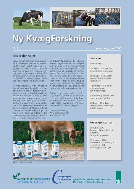 Ny Kvægforskning nr. 3, Juni 2006 - Kvægbrugets Forsøgscenter
