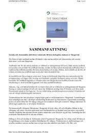 SAMMANFATTNING - Projekt Skagerrak - Home