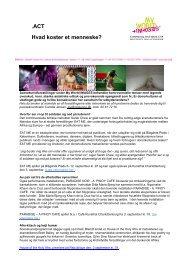 .ACT Hvad koster et menneske? - Center for Kultur og Udvikling